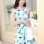ชุดเดรสทำงานเกาหลี เดรสสั้นน่ารักๆพิมพ์ลายโบว์ มาคู่กับเสื้อสูทตัวสั้นสีขาว เนื้อผ้าดี ทำให้คุณสาวๆ ดูสวยง่า ( M L XL XXL ) thumbnail 4