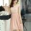 ชุดเดรสออกงานสวยๆ ชุดเดรสสั้น สีชมพู ผ้าชีฟอง ใส่ไปงานแต่งงาน ออกงานเลี้ยง ให้ลุคสาวหวานสไตล์เกาหลี สวยหรู ดูดี ( S M L XL ) thumbnail 5