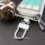 กระเป๋าซองหนังใส่ กุญแจรีโมทรถยนต์ ได้ทุกรุ่น ประดับคริสตัล DIY สี ขาว/เขียว/ฟ้า (ไม่รวม-ตุ๊กตา) thumbnail 9