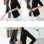 เสื้อสูททำงานผู้หญิงสีดำ แขนยาว ทรงสวย เรียบร้อย ดูดี thumbnail 4