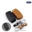 ซองหนังแท้ใส่กุญแจรีโมทรถยนต์ Ford Fiesta,Focus พับข้าง รุ่น 3 ปุ่ม thumbnail 1