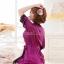 เซ็กซี่ชุดชั้นในลูกไม้ Robe ชุดนอน Nightgown + G-String สีขาว+ชมพูอ่อน thumbnail 7