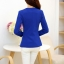 เสื้อสูททำงานผู้หญิง สีน้ำเงิน แขนยาว คอปก เอวเข้ารูป thumbnail 6