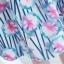 ชุดเซ็ท 2 ชิ้น เสื้อสีขาวแขนสามส่วน คู่กระโปรงพิมพ์ลายดอกไม้น่ารักๆ สีชมพู S M L XL thumbnail 10