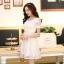 ชุดทำงานสวยๆ ชุดเดรสสั้น สีขาว ให้ลุคสาวหวานสไตล์เกาหลี สวยหรู ดูดี เรียบร้อย ( S,M,L,XL ) thumbnail 6