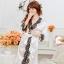 เซ็กซี่ชุดชั้นในลูกไม้ Robe ชุดนอน Nightgown + G-String สีขาว+ชมพูอ่อน thumbnail 1