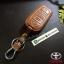 ซองหนังแท้ ใส่กุญแจรีโมทรถยนต์ รุ่นหนังนิ่ม Toyota Vellfire,Alphard 2015-17 Smart Key 6 ปุ่ม โลโก้-เงิน thumbnail 3