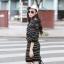 ชุดเดรสแฟชั่นสไตล์เกาหลีสวยๆ ชุดเซ็ดแยกชิ้นสีดำ เสื้อแขนยาว , กระโปรงสั้นเข้ารูป ผ้าไหมพรม เนื้อผ้ายืดได้ thumbnail 4
