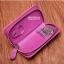 กระเป๋าหนังแท้ใส่พวงกุญแจ Cater gootaer สี ดำ-น้ำตาล-ชมพู-ดำเงา thumbnail 11