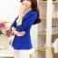 เสื้อสูททำงานผู้หญิง สีน้ำเงิน แขนยาว คอปก เอวเข้ารูป thumbnail 9