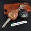 ซองหนังแท้ ใส่กุญแจรีโมทรถยนต์ รุ่นเรืองแสง Mitsubishi สปซวากอน แบบดอกกุญแจ thumbnail 4