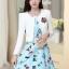 ชุดเดรสทำงานเกาหลี เดรสสั้นน่ารักๆพิมพ์ลายโบว์ มาคู่กับเสื้อสูทตัวสั้นสีขาว เนื้อผ้าดี ทำให้คุณสาวๆ ดูสวยง่า ( M L XL XXL ) thumbnail 6