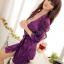 ชุดนอนเซ็กซี่ที่มีเสน่ห์ Nightgown Set ชุดเสื้อคลุมอาบน้ำ + G-String 2 สี สีชมพูและสีม่วง thumbnail 3