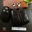 ซองหนังแท้ ใส่กุญแจรีโมทรถยนต์ Honda Civic FB,CR-V Keyless 3 ปุ่ม รุ่นถอดปลอกได้ สีดำ thumbnail 2