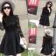 ชุดเดรสสั้นสีดำ แนวคุณหนู เรียบร้อย สวยหรู ดูดี สไตล์เกาหลี thumbnail 8