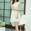 ชุดเดรสออกงานสวยๆ ชุดเดรสสั้นสีขาว ผ้าชีฟอง ใส่ไปงานแต่งงาน ออกงานเลี้ยง ให้ลุคสาวหวานสไตล์เกาหลี สวยหรู ดูดี ( S M L XL ) thumbnail 3
