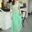 ชุดเดรสยาวสวยๆ สีเขียว เสื้อผ้าลูกไม้อย่างดีเย็บต่อด้วยกระโปรงผ้าชีฟอง ใส่ไปงานแต่งงาน ออกงานเลี้ยง ให้ลุคสวยหรู ดูดี S M L XL thumbnail 15