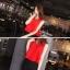 ชุดเชตเสองชิ้นเข้าชุด เสื้อ กระโปรง โทนสีแดง ดำ เรียบๆ ดูดี สไตล์แฟชั่นเกาหลี thumbnail 2