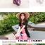 ชุดเดรสเที่ยวทะเลยาวสีชมพู ใส่ไปเที่ยวทะเล เย็บคล้องคอ เอวยืด พิมพ์ลายดอกไม้ สวยหวาน thumbnail 4