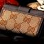 กระเป๋าพวงกุญแจ Gucci กุชชี่ ลายใหม่ คุณภาพเป็นเลิศ สี น้ำตาล - ขาว (Pre) thumbnail 6