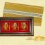 ของที่ระลึก กรอบชุดเทพเจ้าจีน ฮก ลก ซิ่ว ประดับไฟ (ขนาด : 7.5 x 13 นิ้ว ) thumbnail 2