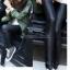 กางเกงหนัง PU เลคกิ้งยืด Leggings สไตล์ เกาหลี สีดำ ฟรีไซส์ thumbnail 6