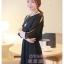 ชุดเดรสสั้นแฟชั่นเกาหลี สีดำ ผ้าชีฟอง คอกลม เอวยืด แขนสามส่วนเก๋ๆ เป็นชุดเดรสสวยหวาน น่ารัก ดูเรียบร้อย ,ชุดไปงานศพสวยๆ ( M L) thumbnail 4