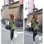กางเกงหนัง PU เลคกิ้งยืด Leggings สไตล์ เกาหลี สีดำ ฟรีไซส์ thumbnail 3