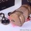กระเป๋าถือ / หนังผ้าแบรนด์ GUCCI ทรงหมอน สีทอง thumbnail 5