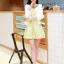 ชุดทำงานแฟชั่นเกาหลีสวยๆ ชุดทำงานออฟฟิศ ชุดเซ็ท 2 ชิ้น เสื้อคลุม + มินิเดรสสั้นสีเหลือง ผ้า Jacquard ( S,M,L,XL ) thumbnail 2