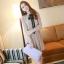 ชุดเดรสทำงานแนววินเทจ สีน้ำตาลอ่อน ผ้าชีฟอง คอเต๋า แขนยาว กระโปรงพลีท เป็นชุดเดรสหวาน แบบสวย น่ารัก สไตล์แฟชั่นเกาหลี ( M L ) thumbnail 2