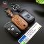 ซองหนังแท้ ใส่กุญแจรีโมทรถยนต์ Honda Civic FB,Accord G8 พับข้างรุ่นหนังนิ่ม 3 ปุ่ม thumbnail 1