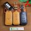 ซองหนังแท้ ใส่กุญแจรีโมทรถยนต์ หนังลาตินั่มคอร์ Mitsubishi Mirage,Attrage,Triton,Pajero Smart Key 2,3 ปุ่ม thumbnail 1
