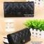 แฟชั่นกระเป๋าสตางค์แบบพับยาว CHANEL สีดำ และ สีชมพู thumbnail 3