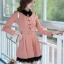 ชุดทำงานสวยๆ ชุดเดรสสั้น สีชมพู คอปก แขนยาว ให้ลุคสาวหวานสไตล์เกาหลี สวยหรู ดูดี ( S M L ) thumbnail 5
