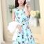 ชุดเดรสทำงานเกาหลี เดรสสั้นน่ารักๆพิมพ์ลายโบว์ มาคู่กับเสื้อสูทตัวสั้นสีขาว เนื้อผ้าดี ทำให้คุณสาวๆ ดูสวยง่า ( M L XL XXL ) thumbnail 2