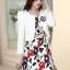 ชุดเดรสทำงานเกาหลี เดรสสั้นพิมพืลายดอกไม้สีแดงดำ มาคู่กับเสื้อสูทตัวสั้นสีขาว เนื้อผ้าดี ทำให้คุณสาวๆ ดูสวยง่า ( M L XL XXL ) thumbnail 6