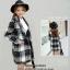 เสื้อโค้ทลายสก๊อตสีดำเทา ทรงสวย เนื้อผ้าดี ลุคสวยน่ารัก สดใส สไตล์เกาหลี thumbnail 5