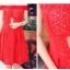 ชุดเดรสออกงานสีแดงเปิดไหล่ ผ้าถักฉลุลายสวยเก๋ เอวเข้ารูป โชว์หลังแอบเซ็กซี่สุดเปรี้ยว thumbnail 5