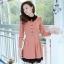 ชุดทำงานสวยๆ ชุดเดรสสั้น สีชมพู คอปก แขนยาว ให้ลุคสาวหวานสไตล์เกาหลี สวยหรู ดูดี ( S M L ) thumbnail 2