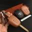 ซองหนังแท้ ใส่กุญแจรีโมทรถยนต์ รุ่นดอกกุญแจโลโก้เหล็ก Toyota New Vios,Yaris 2 ปุ่ม thumbnail 7