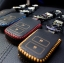 ซองหนังแท้ ใส่กุญแจรีโมทรถยนต์ HONDA HR-V,CR-V,BR-V,JAZZ Smart Key 2 ปุ่ม รุ่น ด้ายสี thumbnail 1