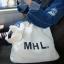 กระเป๋าถุงผ้าถือ สะพายใหล่ สไตล์เกาหลี แบบน่ารักๆ LOGO MHL สี ดำ - ขาว thumbnail 10