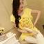 เสื้อทำงานแฟชั่นสไตล์เกาหลีสวยๆ สีเหลือง ผ้าชีฟองพิมพ์ลายดอกไม้หวานๆ ใส่ทำงานได้ ,เสื้อราคาถูก thumbnail 2