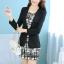 เสื้อสูททำงานผู้หญิง สีดำ แขนยาว คอปก เอวเข้ารูป thumbnail 2