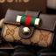 กระเป๋าพวงกุญแจ Gucci กุชชี่ ลายใหม่ คุณภาพเป็นเลิศ สี น้ำตาล - ขาว (Pre) thumbnail 3