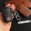 ซองหนังแท้ ใส่กุญแจรีโมทรถยนต์ Toyota Hilux Revo,New Altis 2014-17 รุ่นหนังนิ่มแบพับข้าง โลโก้-เงิน thumbnail 10