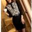 เสื้อทำงานแฟชั่นสไตล์เกาหลีสวยๆ เสื้อลูกไม้แขนยาวสีดำ คอจีน กระดุมคอ ผ้าลูกไม้เนื้อผ้ายืดหยุ่น thumbnail 3
