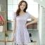 ชุดทำงานสวยๆ ชุดเดรสสั้น สีม่วง ให้ลุคสาวหวานสไตล์เกาหลี สวยหรู ดูดี เรียบร้อย ( S,M,L,XL ) thumbnail 1
