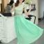ชุดเดรสยาวสวยๆ สีเขียว เสื้อผ้าลูกไม้อย่างดีเย็บต่อด้วยกระโปรงผ้าชีฟอง ใส่ไปงานแต่งงาน ออกงานเลี้ยง ให้ลุคสวยหรู ดูดี S M L XL thumbnail 16